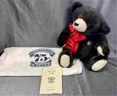 Knickerbocker 75th Anniversary Bear with Dust Bag