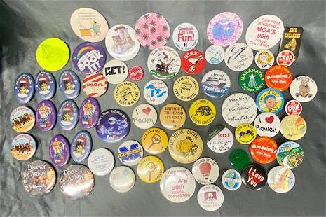 63 Collectible Buttons/Pins