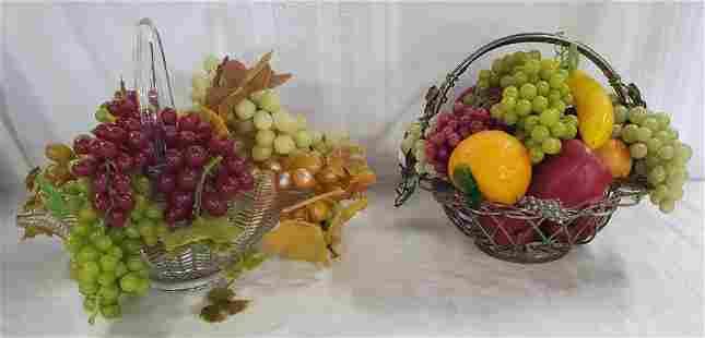 2 Decorative Fruit Centerpieces.