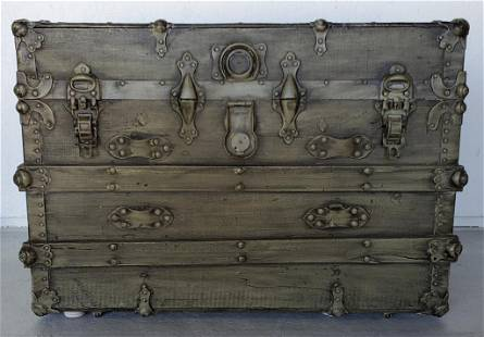 Antique Painted Trunk