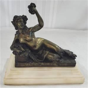 Bronze Vintage Bacchanalian Nude
