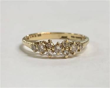 14k Ring with 9 Diamonds 2.3g TW