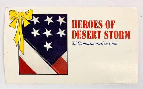 1991 Heroes of Desert Storm $5 Commemorative Coin