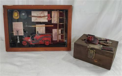 Decorator Fireman Inspired Shadow Box & Box