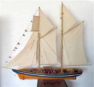 Beautiful LARGE 2 Mast Model Ship