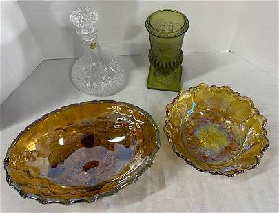 4 Pieces Collectible Glass