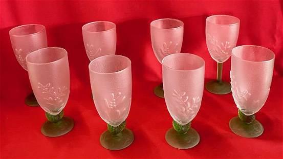 "2 Sets Pfaltzgraff ""Winterwood"" Glasses"