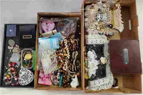 Assorted Costume Jewelry and Jewelry Pieces