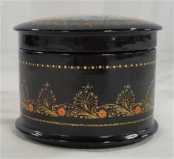 Black Lacquer Russian Trinket Box