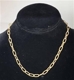 14k Link Style Necklace  3.7g