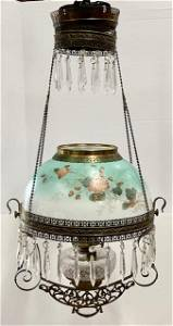 Beautiful Antique B&H Pull Down Oil Lamp