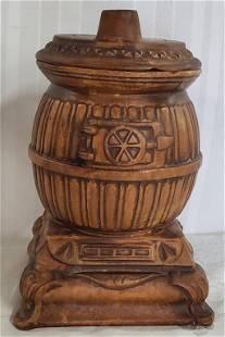 Treasure Craft Pot Belly Stove Cookie Jar
