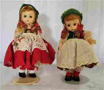 "Madame Alexander ""Tyrolean & Swiss"" Dolls"