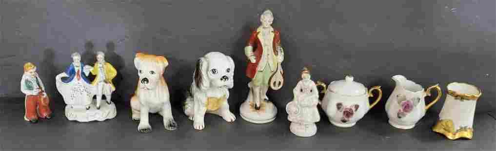 9 Pcs of Collectible Porcelain Figurines/Etc.