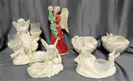 6 Pieces of Angels and Angle Candle Holder