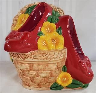 1999 Wizard of OZ Ruby Slippers Cookie Jar