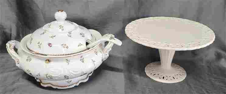 I. Godinger Soup Tureen and Cake Stand