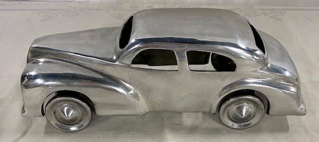 Polished Metal Model Car