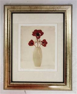 """""""Red Anemones IV"""" by Amy Melious Print"""
