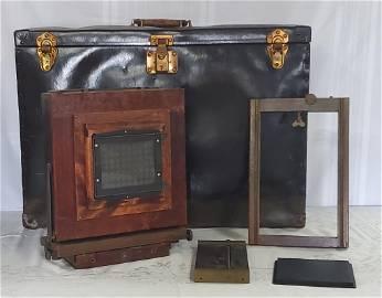 Antique Wood Eastman Kodak Camera-2-D View