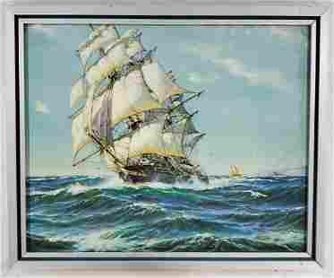 Framed Clipper Ship Print