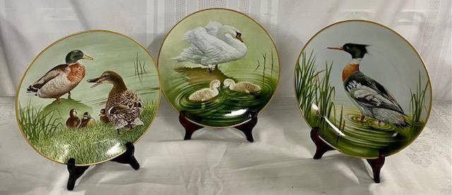 """3 Collector Plates """"The Summer Collection"""""""