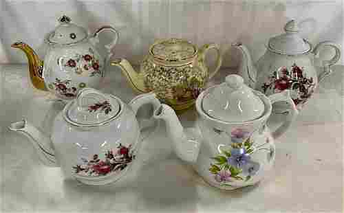 Collection of 5 Tea Pots