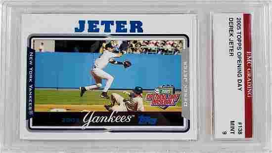 2005 Topps Jeter Graded Card