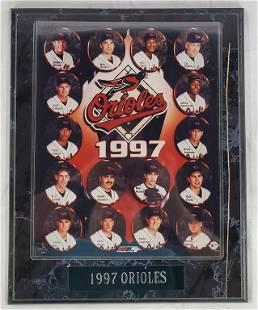 1997 Orioles Baseball Team Plaque