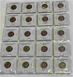 20 Assorted Collectible Jefferson Nickels
