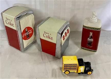 4 Collectible Coca-Cola Items.