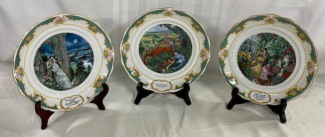 3 - The Poetry Society Collector's Plates - 1982