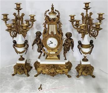 Elegant Brevettato Imperial 3 Piece Clock Set
