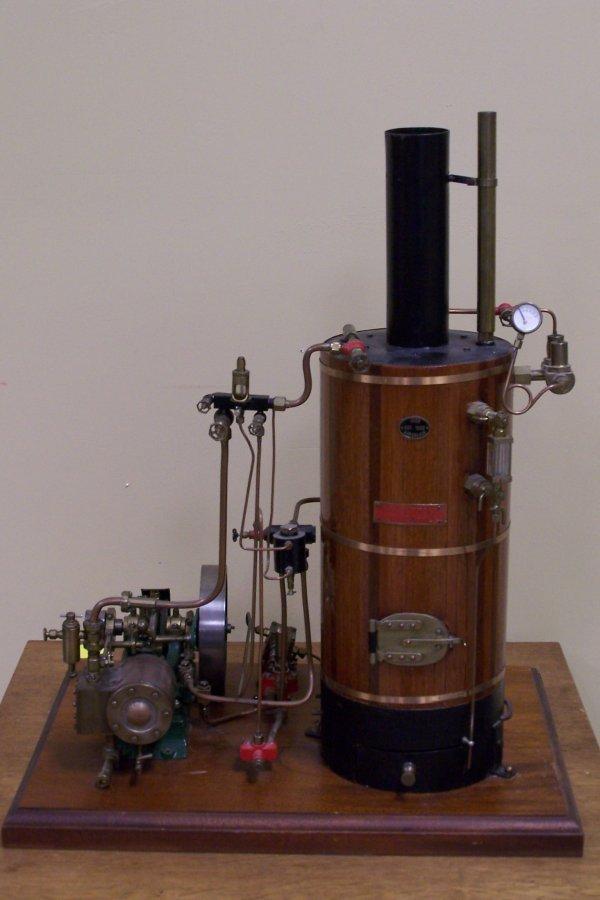 103: STUART STEAM ENGINE WITH BOILER
