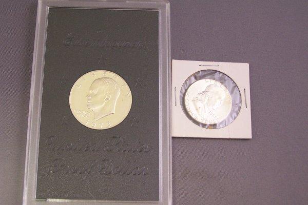 10A: IKE PROOF DOLLAR & BEN FRANKLIN HALF DOLLAR