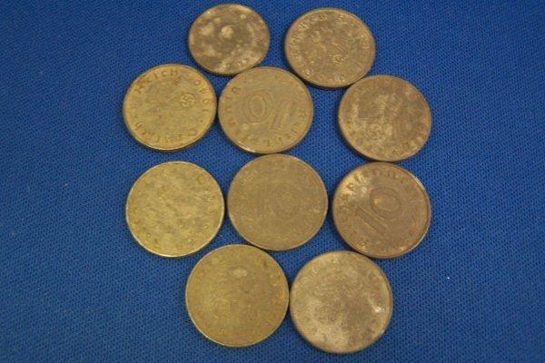 20A: 10 GERMAN COINS