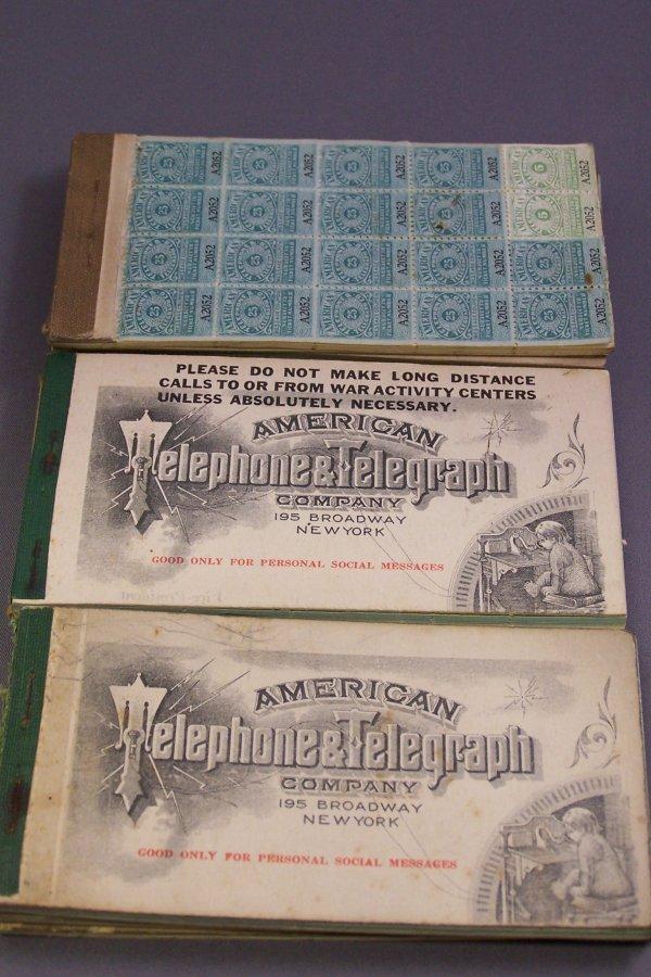 26A: TEN BOOKS OF AMERICAN TELEPHONE & TELEGRAPH FRANK