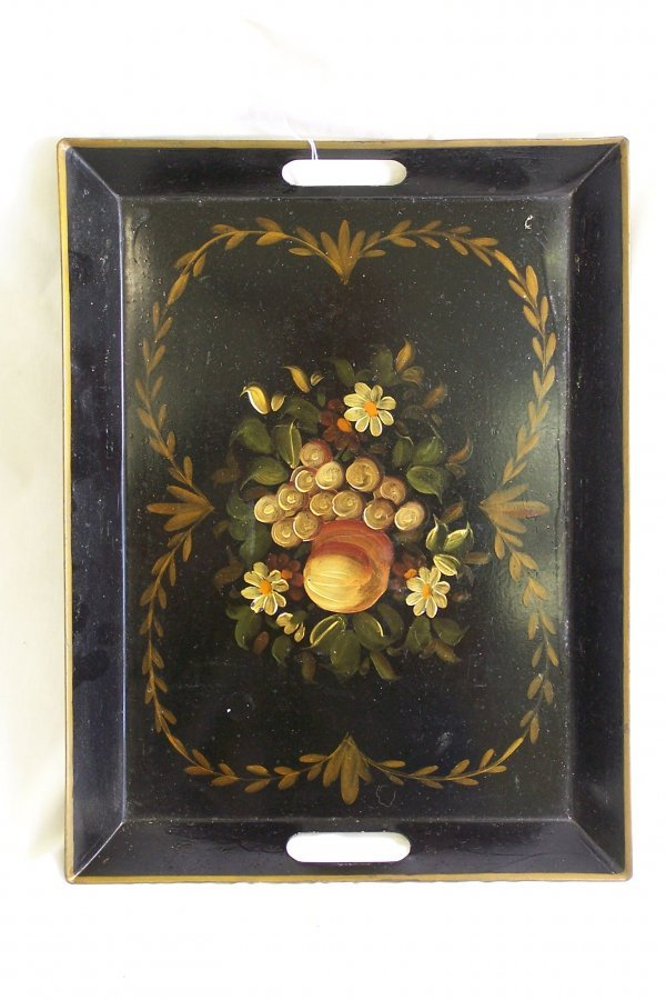 2: TOLE PAINTED TRAY IN GREAT CONDITION