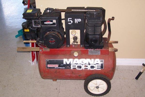 358: MAGNA FORCE SANBORN 5 HP AIR COMPRESSOR