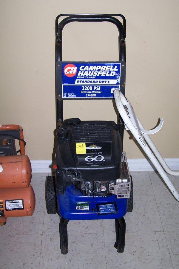 362: 6 HP CAMPBELL HAUSFELD 2200 PSI PRESSURE WASHER