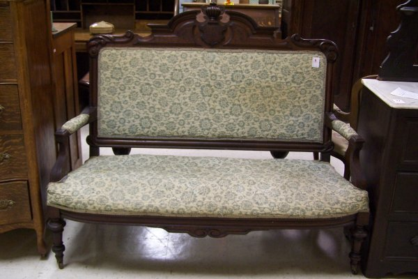 6: CARVED VICTORIAN SETTEE