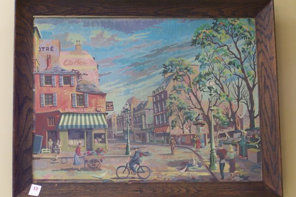 """12: 26"""" X 36"""" UNBELIEVABLE PAINT BY NUMBERS ON MASONITE"""