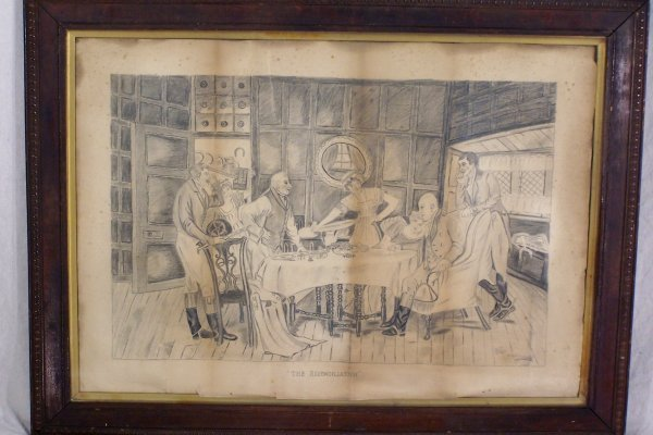 "13: 24"" X 34"" PENCIL DRAWING BY OLIVE WOOD HOUSE"