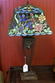 75: FABULOUS STAINED GLASS LAMP