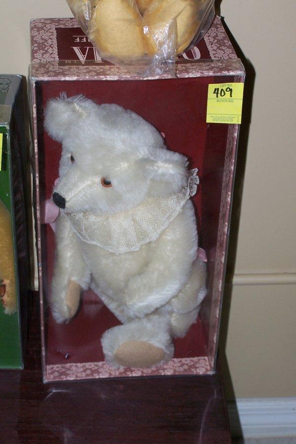 "409: STEIFF ""OPHELIA"" STUFFED BEAR IN ORIGINAL BOX"