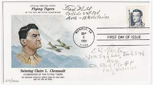 FLYING TIGERS DAVID LEE 'TEX' HILL & ED RECTOR FDC