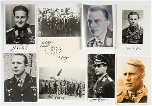 LUFTWAFFE ACES & KNIGHT'S CROSS RECIPIENTS (9)