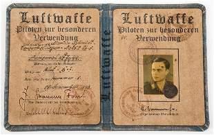WWII GERMAN LUFTWAFFE ID BOOK AUSWEIS