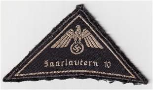 WWII GERMAN RED CROSS SLEEVE EAGLE SAARLAUTERN