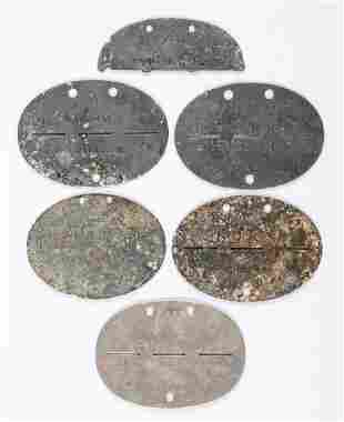 GERMAN WWII DOG TAGS ERKENNUNGSMARKEN (6)